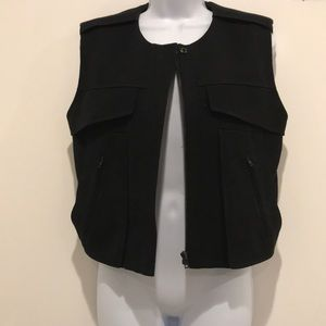 Alexander Wang Black Moto Vest